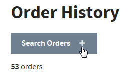 Order History search orders button screen shot
