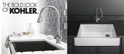 Kohler Artifacts faucet and Whitehaven sink